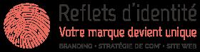 Logo Reflets d'identité - Création de sites internet, logo, flyer, graphisme, stratégie de communication et positionnement de marque - Ouistreham, Caen, Normandie